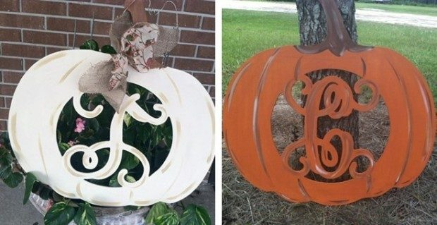 Fall Pumpkin Monogram Door Hanger Only $24.99!
