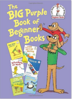 Calling all P. D. Eastman fans! What could be a better than six Beginner Books written and/or illustrated by P. D.—or son Peter—Eastman? Six of them for less than the price of two! At only $15.99, The Big Purple Book of Beginner Books is an incredible value and includes the full, unabridged text and illustrations for A Fish Out of Water by Helen Palmer, I'll Teach My Dog 100 Words by Michael Frith, Fred and Ted Go Camping by Peter Eastman, Snow by P. D. Eastman and Roy McKie, and Flap Your Wings and Big Dog . . . Little Dog by P. D. Eastman, all bound together in one sturdy, hardcover omnibus. Perfect for birthdays and holidays, this is a classic, affordable gift the whole family can enjoy together.