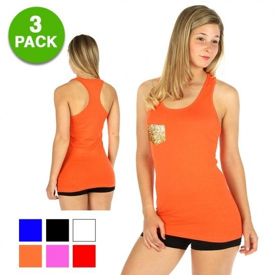 3-pack: Esti Couture Ladies Solid Racerback Tank Top Just $9.99! Down from $69.99! Ships FREE!