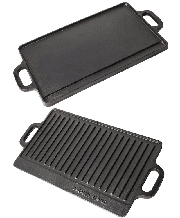 "Cast Iron Reversible Grill Griddle 15"" x 9"" Only $6.37! (Reg. $21)"