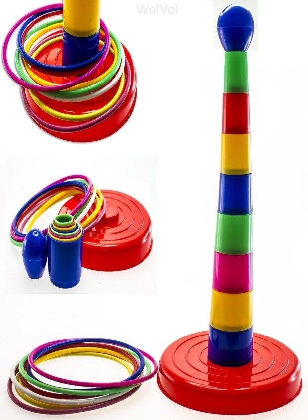 """18"""" Colorful Ring Toss Game Set for Kids Only $14.94! (Reg. $30)"""