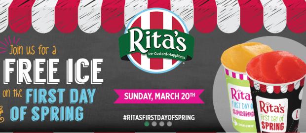 FREE Italian Ice On Sunday, March 20 At Rita's!