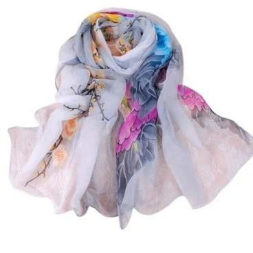 Rose Silk Chiffon Scarf Just $3.99! FREE Shipping!