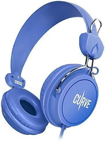 Sentey Headphones Curve (Blue) Includes In-line Microphone Just $13.99!
