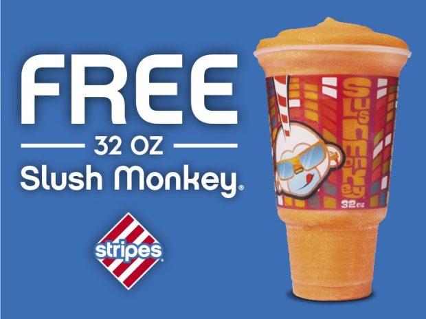 FREE 32 Oz. Slush Monkey At Stripes!