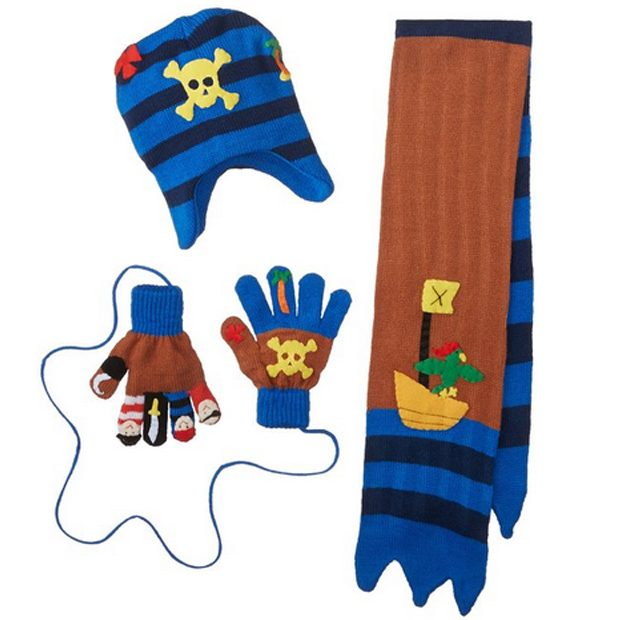 Kidorable Little Boys' Pirate Hat Scarf Gloves Set As Low As $8.14 (Reg. $43.50)!