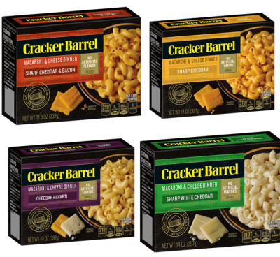 Cracker Barrel Introduces Their New Macaroni & Cheese Dinners!