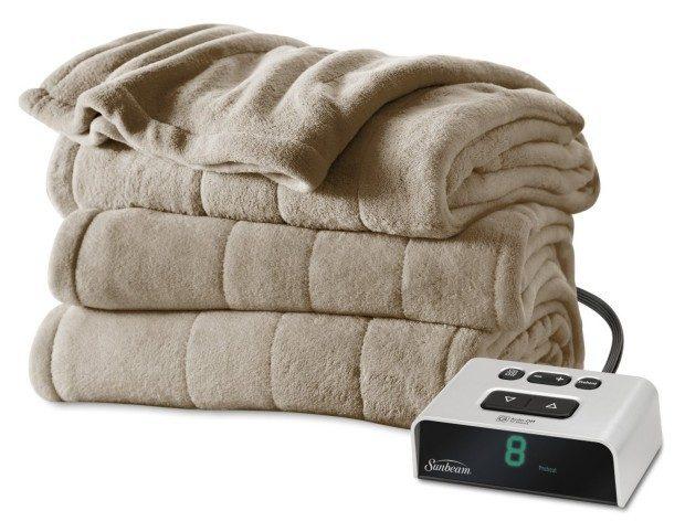 Sunbeam Microplush Heated Twin Blanket Just $43.99!  (Reg. $89!)