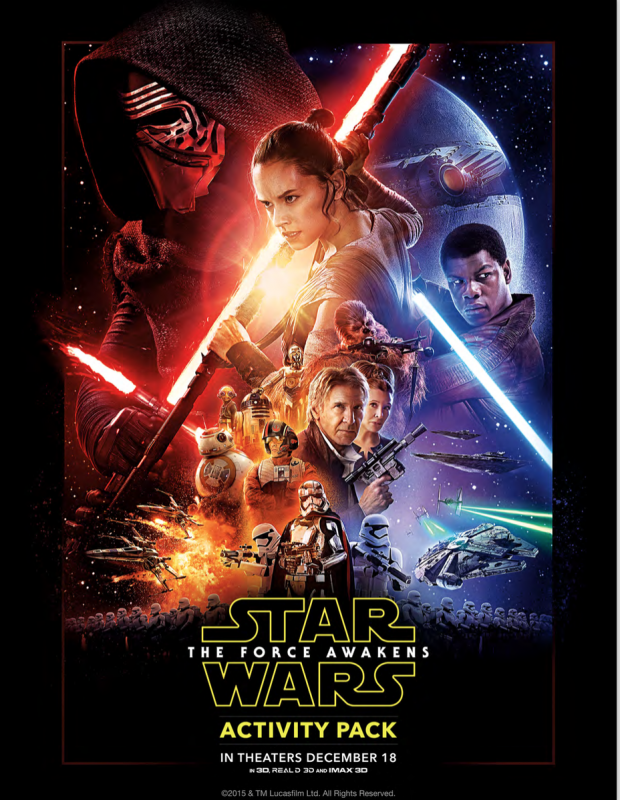 FREE Star Wars: The Force Awakens Activity Pack Download!