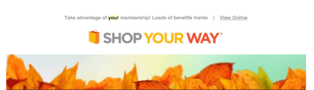 FREE Shop Your Way Rewards Points!