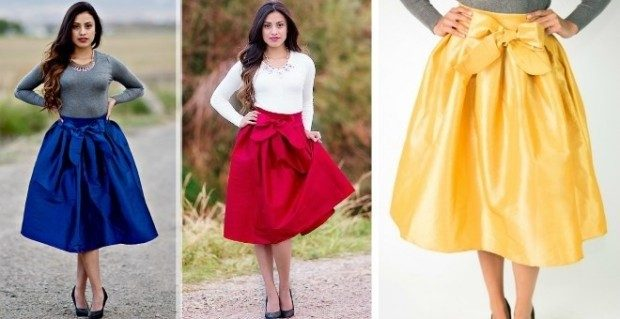Holiday Taffeta Skirts with Bow | 6 Colors Just $34.95!