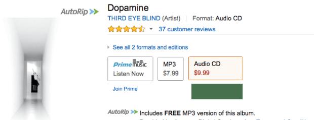 Third Eye Blind - Dopamine Digital Download Or CD!