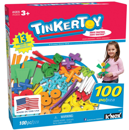 Tinkertoy Essentials Value Set (100 Piece) Just $18 Down From $40!