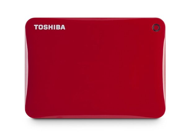 Toshiba Canvio Connect II 1TB Portable Hard Drive, Red Only $54.99! Down From $120!