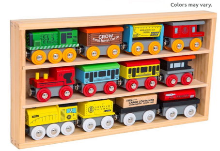 Orbrium Toys 12 Pcs Wooden Engines & Train Cars Collection Just $23 Down From $50!