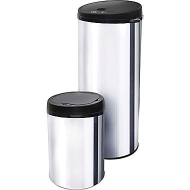 Motion Activated Stainless Steel Trash Cans, Set of 2 Just $39.99! (Reg. $100!)