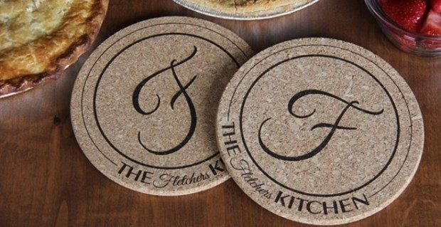 Set Of 2 Personalized Large Kitchen Hot Pads Just $10.99!