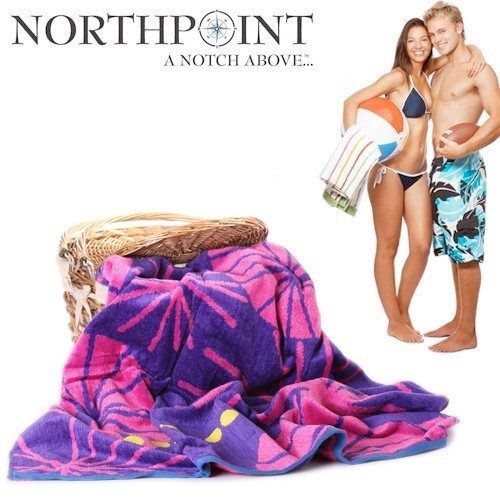 2 Pack: Northpoint 100% Cotton Plush Velour Miramar Beach Towel Just $19.99 Down From $99.99! Ships FREE!
