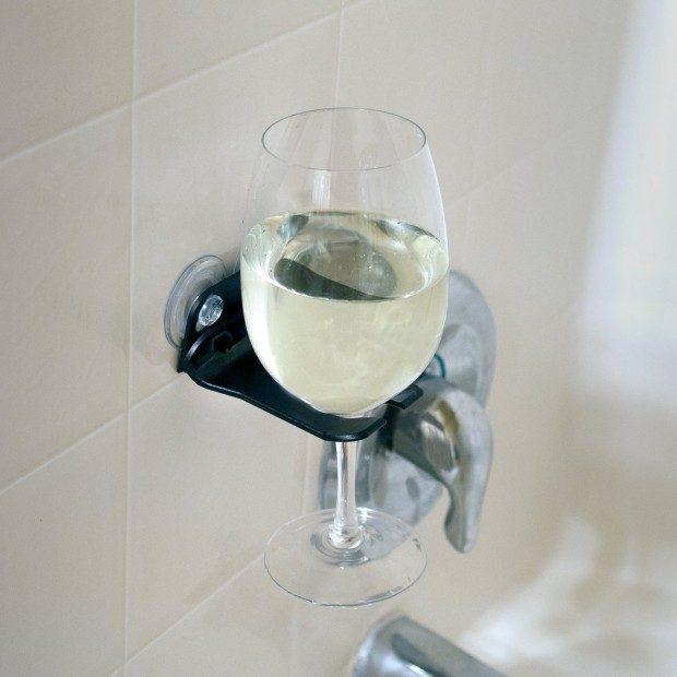 WaveHooks Bathtub Wine Glass Holder Only $12.90!