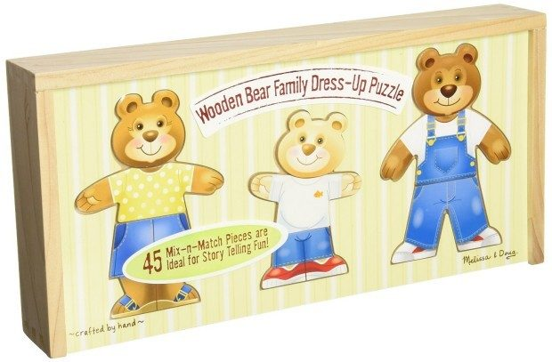 Melissa & Doug Wooden Bear Family Dress-Up Puzzle Only $14.99! (30% Off!)