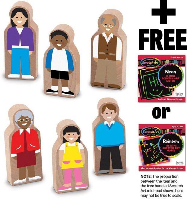 Wooden Neighbors Set + Scratch Art Mini-Pad Bundle Just $12.98! (reg. $20)