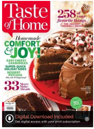 Taste of Home Magazine Just $6.25 A Year (Reg. $24 Cover Price)!