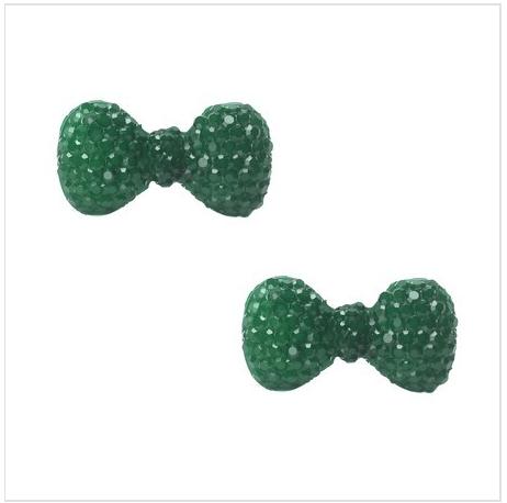 Petite Navy Green Bow Earrings As Low As $2 SHIPPED (Reg. $20)!