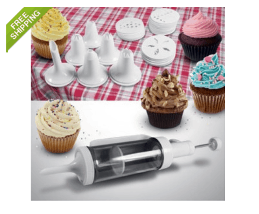 31 Piece Cake Decorating Kit with 6 Decorating Icing Nozzles ONLY $6.99 + FREE Shipping