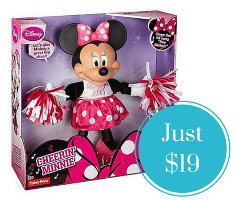 Cheerin' Minnie Mouse Doll ONLY $19 + FREE Store Pickup (Reg $39.97)!