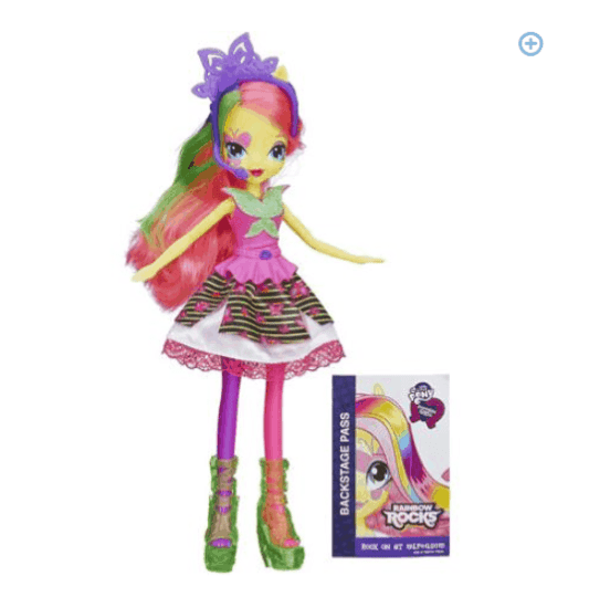 CLEARANCE! My Little Pony Equestria Girls Neon Rainbow Rocks Fluttershy Doll ONLY $4.97 + FREE Pickup (WAS $13)!
