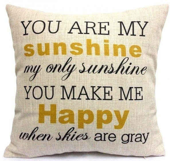 You Are My Sunshine Pillow Cover Just $5.97 + FREE Shipping!