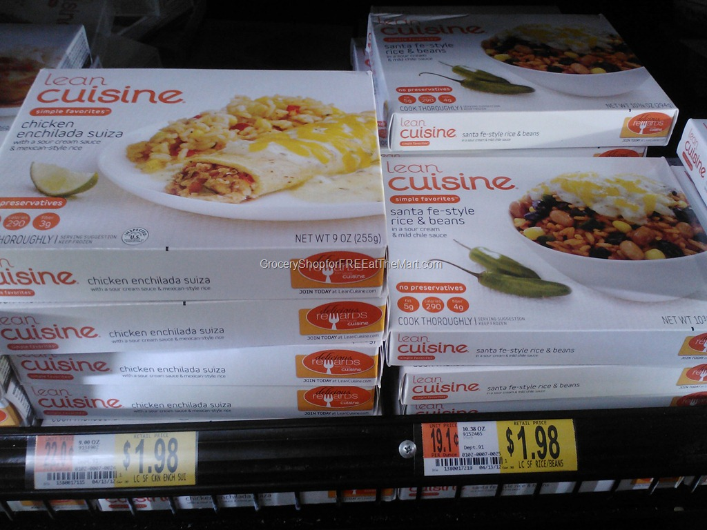 Lean cuisine grocery shop for free at the mart for Cuisine 5 15