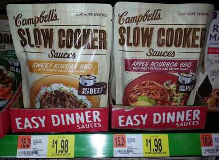 Campbell's Slow Cooker Or Skillet Sauces Just $0.23 At Walmart!