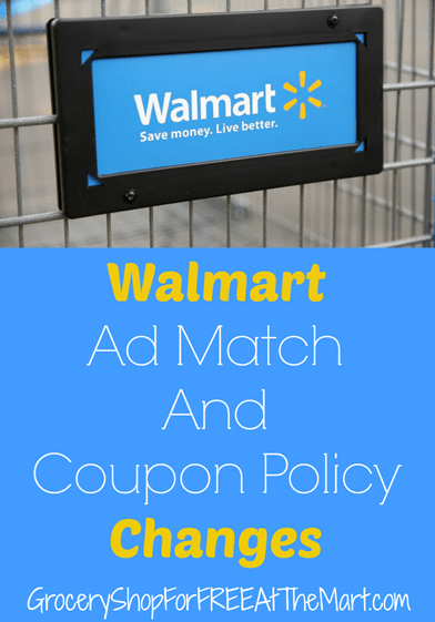 Walmart Ad Match and Coupon Policy Changes