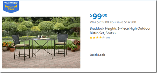 Inspirational Walmart Values of the Day Braddock Heights Patio Furniture for or Concepts Women Knit