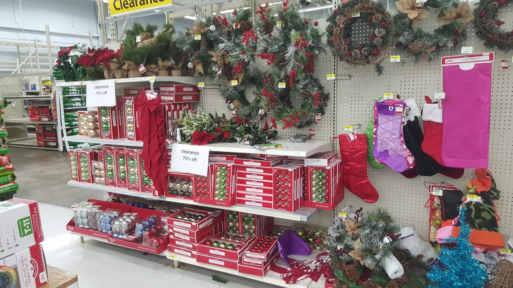 Walmart christmas clearance hits grocery shop for