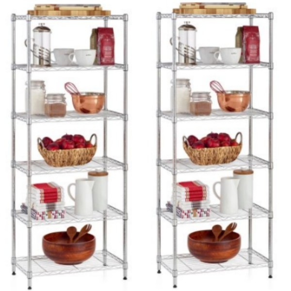 Work Choice 6-shelf Commercial Wire Shelving Convertible Rack Just $28.97, Down From $49.00!