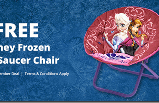 FREE Disney Saucer Chair From Walmart!