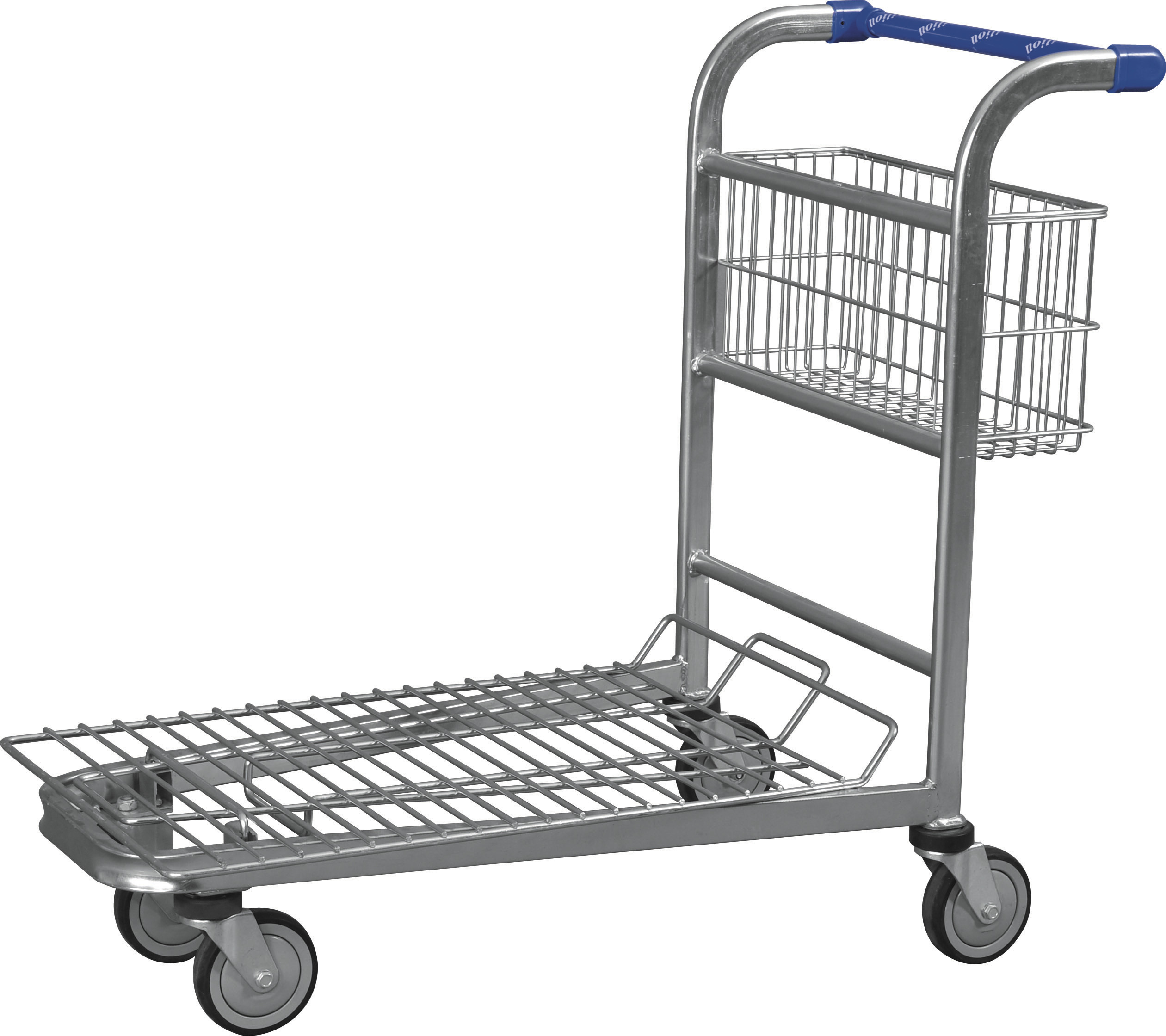 Wire Metal Warehouse Trolleys With 4 Swivel 5 Inch Wheels