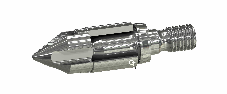 Die Klauen dieser Rückstromsperre ermöglichen ein präzises Einspritzen des Kunststoffes.