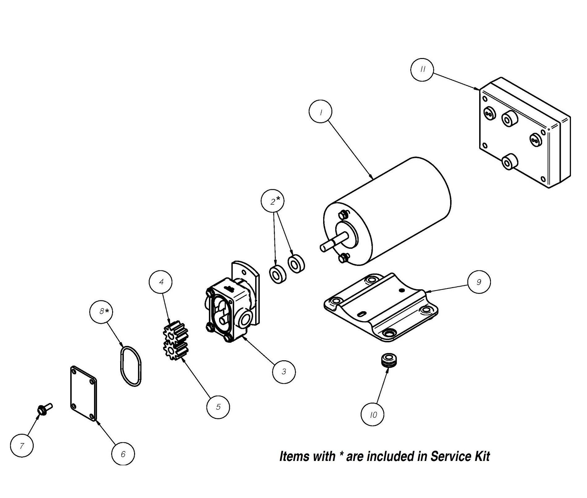 Gpbrt 1 12v Positive Displacement Reversing Gear Pump Groco