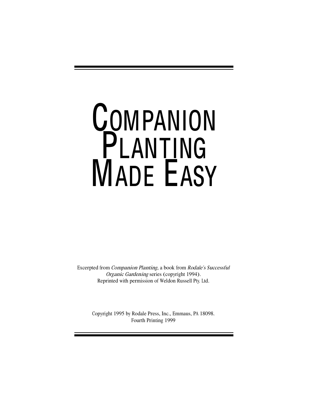 Interplanting (Companion Planting) for Pest Control and