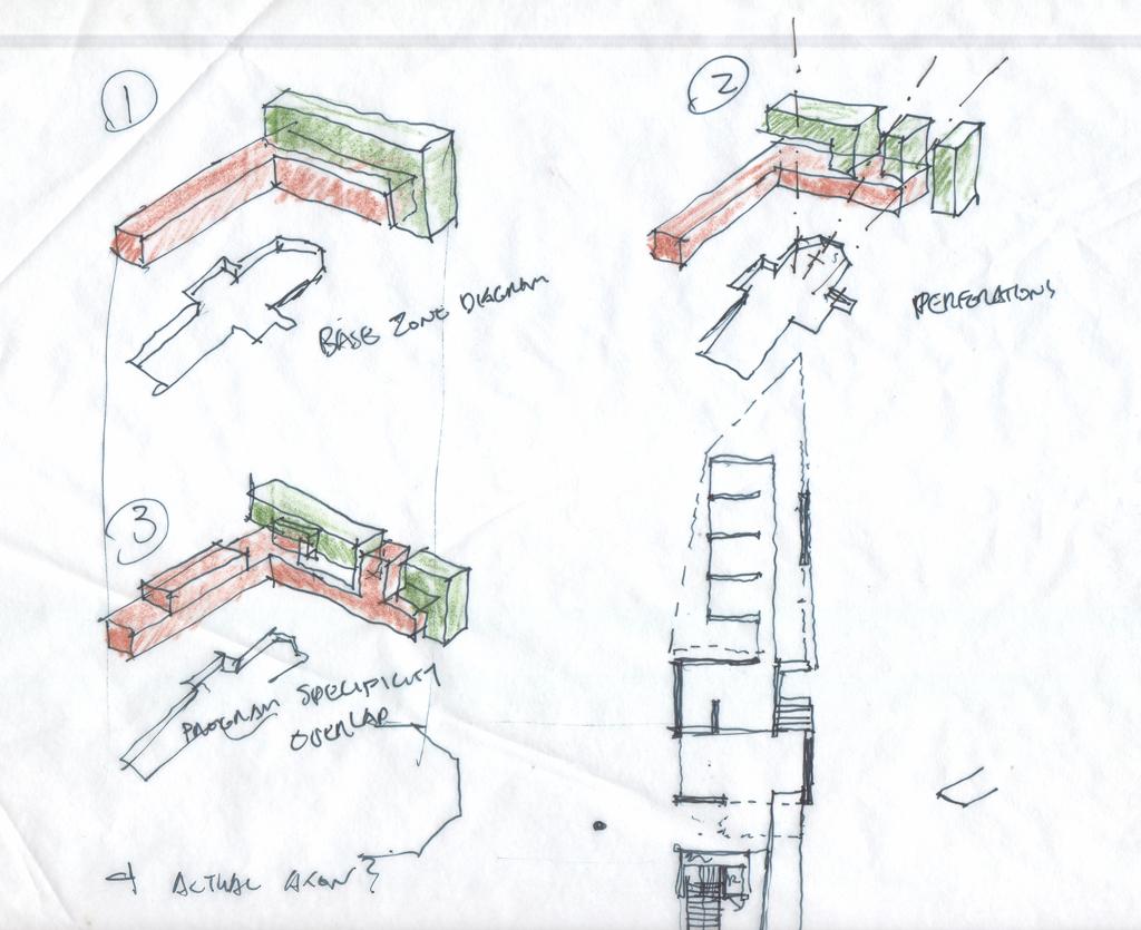 Bubble Diagram Programming Zoning Diagram Sketch Michael Grogan Architect