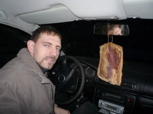 odorizant auto natural cu miros de slanina