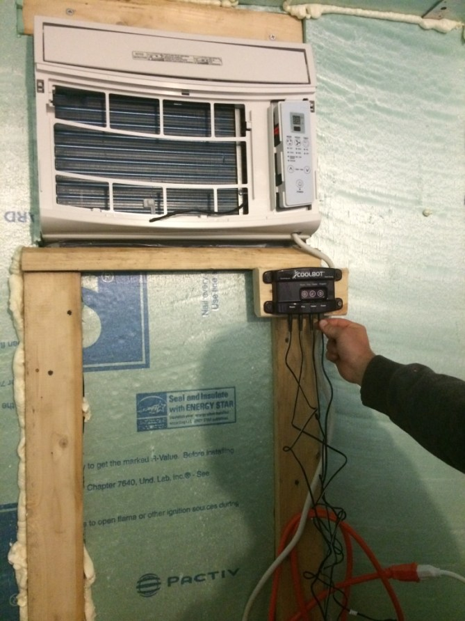 Installing the sensor that that tricks the AC unit