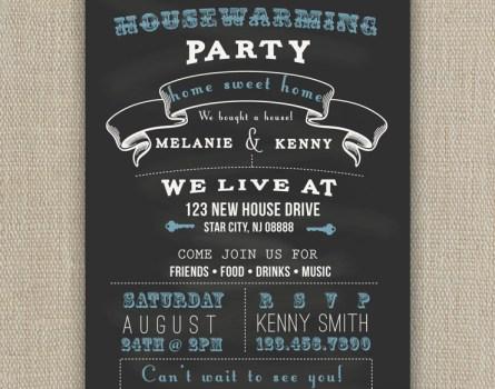 chalkboard party invite