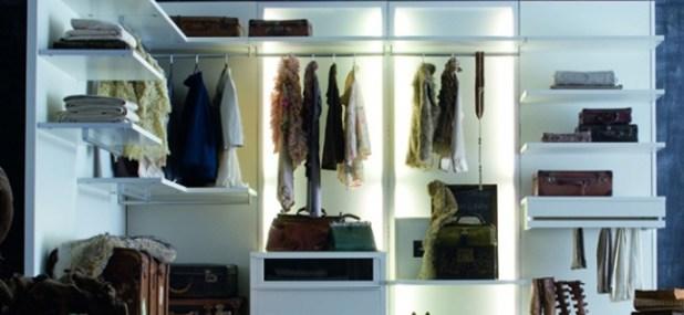 backlit closet