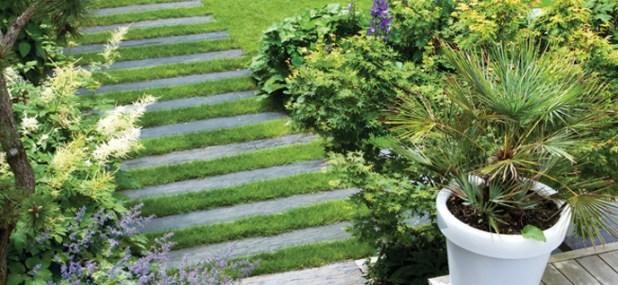slated garden path