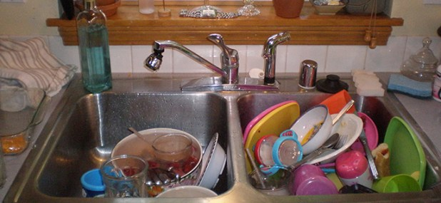 dishes sink