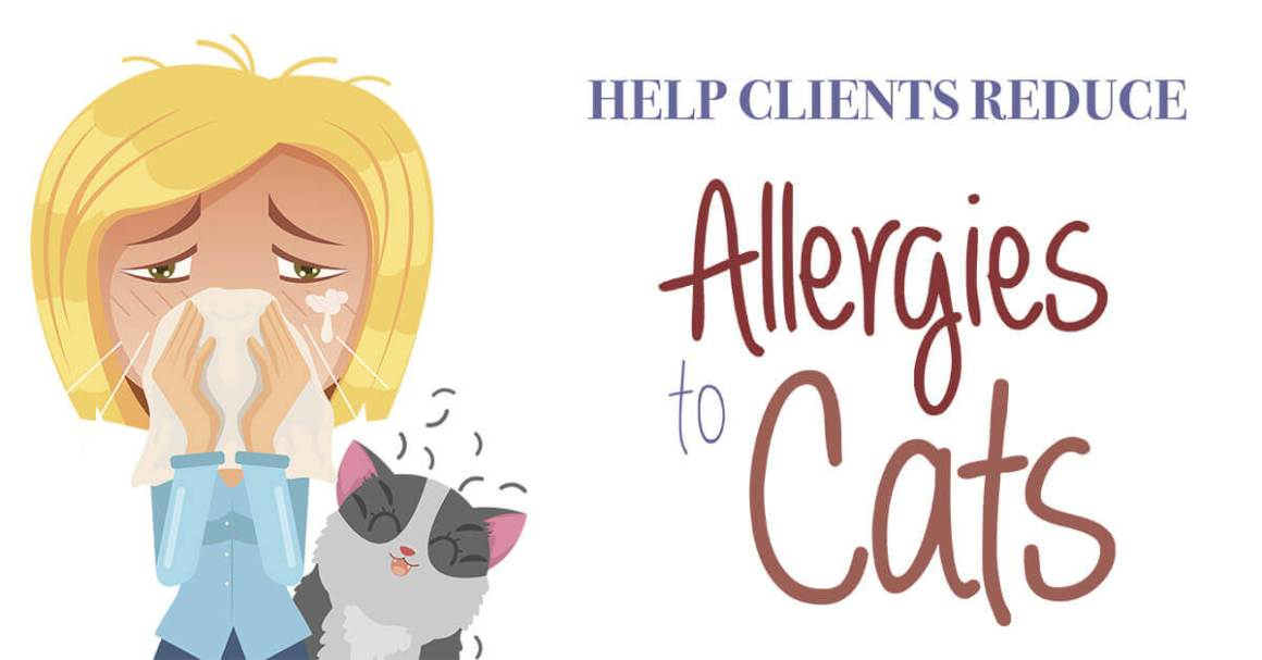 Help Clients Reduce Allergies to Cats